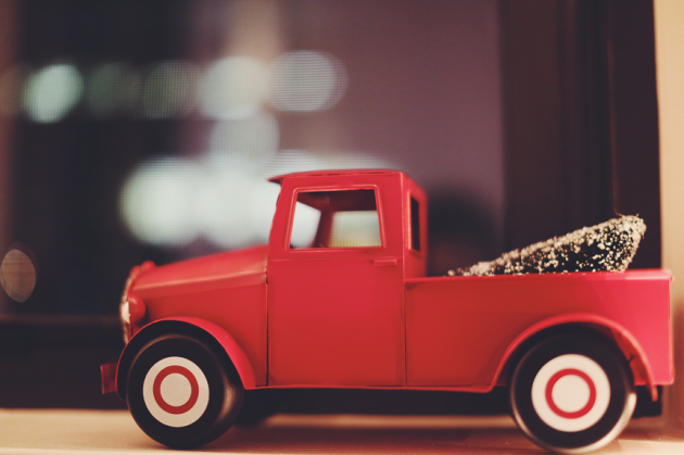 Tree in toy car